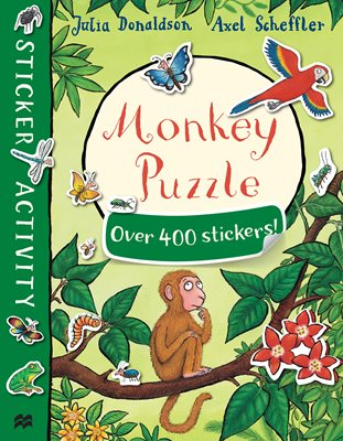 Book cover for Monkey Puzzle Sticker Book